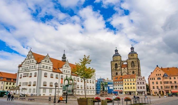 Marktplatz Wittenberg Germany
