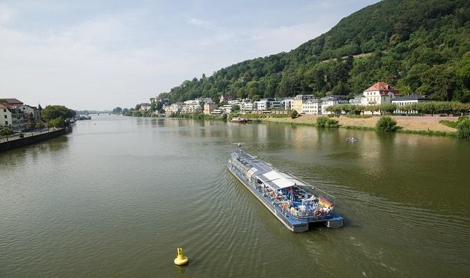 Neckar River View from Karl Theodor Bridge