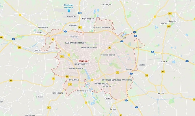 Hannover Germany Map