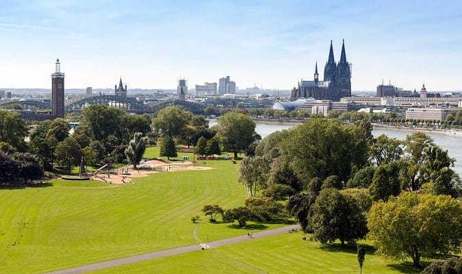 Beautiful Park in Cologne
