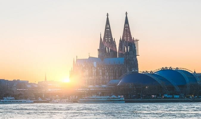 Cologne, a beautiful city in Germany known for its cathedral