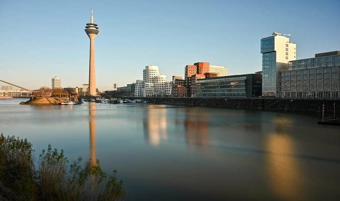 Düsseldorf, the second largest city by population in the state of North Rhine-Westphalia, Germany