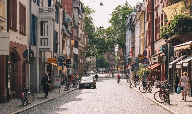 Freiburg, a beautiful city in the Black Forest region