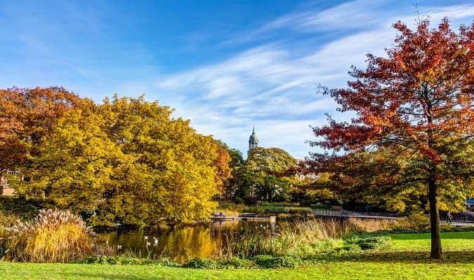 Beautiful Park in Hamburg