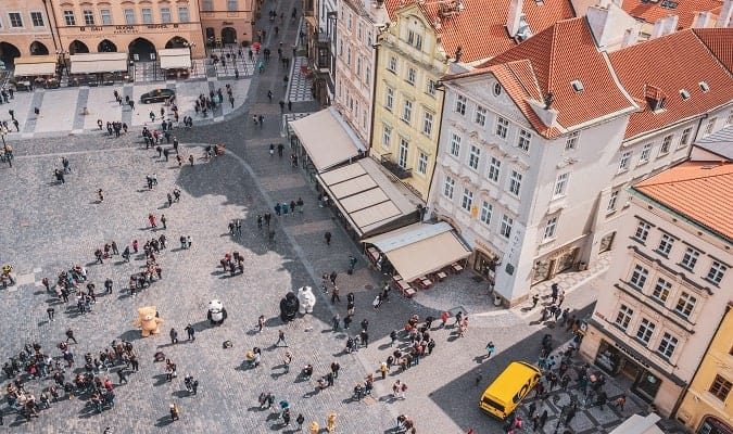 Shopping are in Prague Photo
