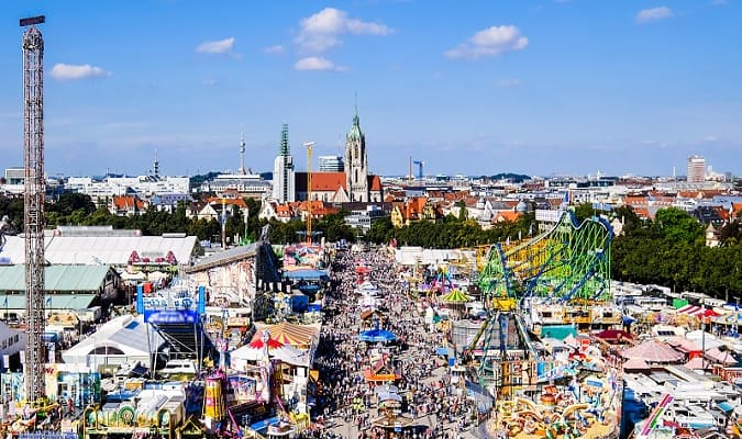 Oktoberfest is the largest beer festival in the world, and takes place every year at Theresienwiese in Munich.