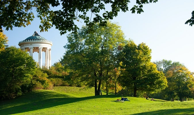 Munich is home to beautiful parks to relax and enjoy.